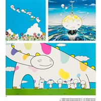 1. planet 66: summer vacation 2. mamu came from the sky 3. yoshiko and the creatures from planet 66 (3 works) by takashi murakami