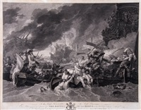 the battle of la hogue by william woollett