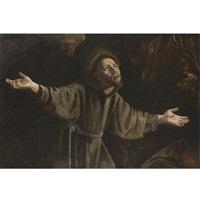 saint francis in ecstasy by orazio gentileschi