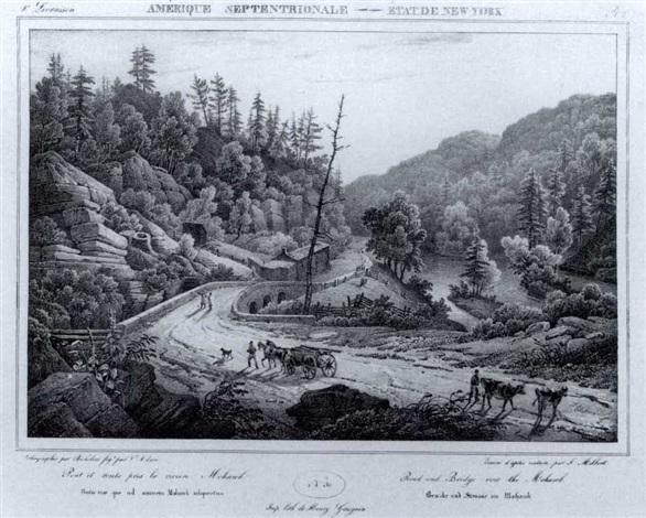itineraire pittoresque du fleurve hudson et des parties laterales de lamerique du nord by jacques gerard milbert