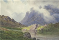 great gable from sprinkling tarn, seathwaite fell by donald a. paton
