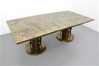 rare dining table(s) by philip and kelvin laverne