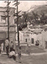 mexican street scene by joseph areno
