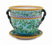 an english majolica large jardiniere and stand by anonymous-british (19)