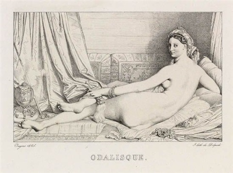 odalisque by jean auguste dominique ingres