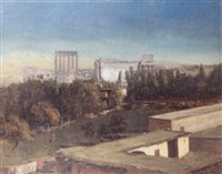 ba'albek. le temple de jupiter by jean-augustin renard
