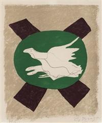 oiseau sur fond de x (bird on an x) by georges braque