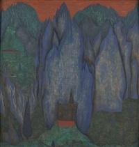 kapelle in den blauen bergen by walter honeder