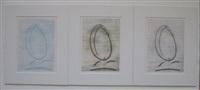 l'oiseau caramel (portfolio w/3 works) by max ernst