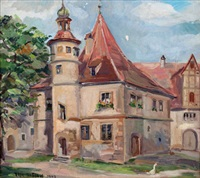 gutshof (hegereiterhaus) in rothenburg by elfriede mäckel