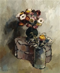still life of flowers by jopie limburg