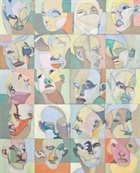 komposisjon med ansikter by benjamin bergmann