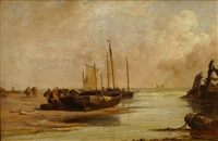 Mussel Gatherers, Ambleteuse Harbour, 1884