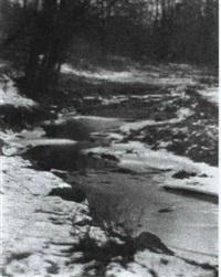 the brook -- winter by yarnall abbott