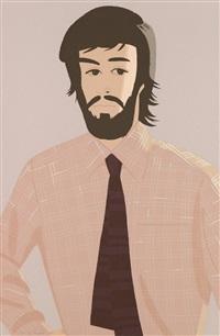 plaid shirt i and ii (2 works) by alex katz