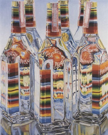 tequila bottles by janet fish