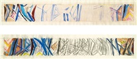 abstrakte gestaltung (2 designs for a ceramic wall) by carl unger