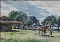 blue bonnets race track by henry john simpkins