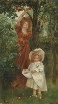picking apples by isaac snowman