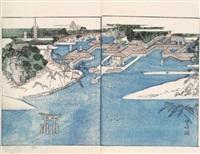 itsukushima ema kagami. itsukushima hengaku shukuhon - recueil des ex-votos du temple d'itsukushima by watanabe taigaku