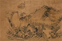 landscape by ji dafu