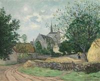 le village de saint-avoye (morbihan) by maxime maufra