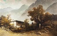bergbauernhaus mit wildem kaiser by oskar mulley