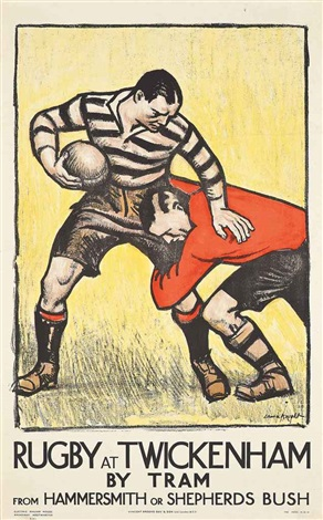 rugby at twickenham by dame laura knight