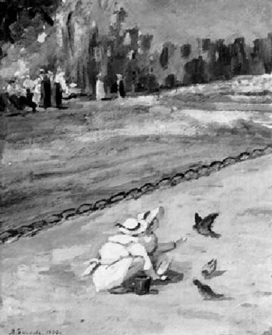 spielende kinder by vyacheslav pavlovich bychkov