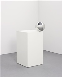 ball on pedestal by jeppe hein