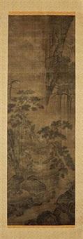 依松观泉图 by dai jin