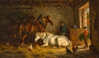 the interior of a stable by willem jacobus boogaard