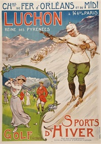 luchon, golf by ernest-louis lessieux