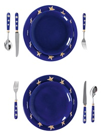 zwei europe-sets (set of 10) by michel leroy