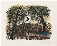 the black moon by marc chagall