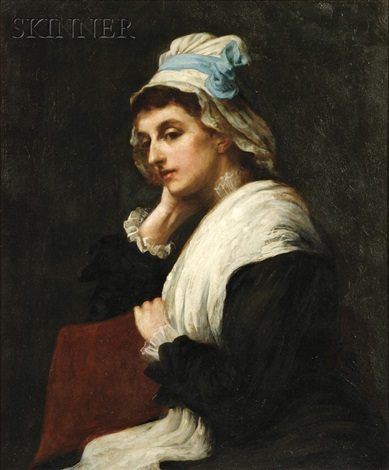 portrait of a seated woman by henry herbert la thangue