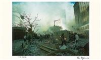 ground zero, 9-11-2001 by ron agam