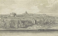 a panoramic view of rome by edward lear