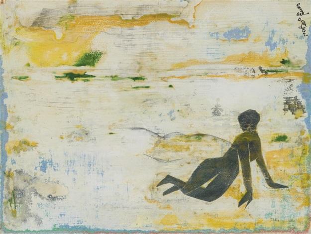 lonely beach by romare bearden