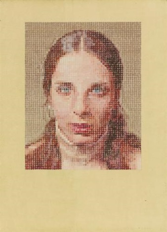 leslie pastel by chuck close
