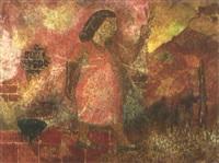 figura y pared by leonidas gambartes