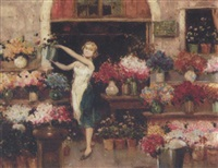 the flower seller by cesare vianello