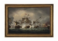 admiral duncan's victory off camperdown, 11th october, 1797 by thomas luny