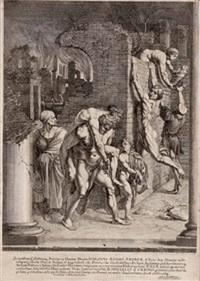 aeneas rettet seinen vater anchises aus dem brennenden troja (after raphael) by johann jacob von sandrart
