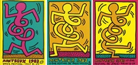 festival de montreux (set of 3) by keith haring