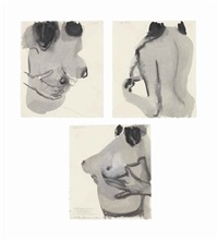 untitled (good, better, best: comparisons and competitions) (in 3 parts) by marlene dumas