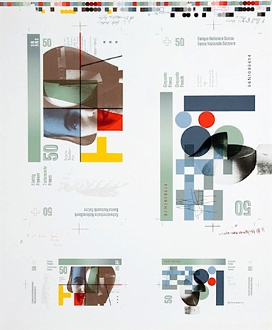 projets de billets de banque de 50 et 100 chf various sizes 2 works by bruno monguzzi