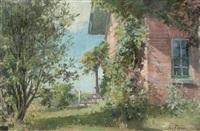 corner garden by albert françois fleury