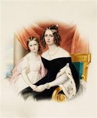 portrait of empress amelié-auguste-eugenie-napoleone of brazil by franz xaver nachtmann