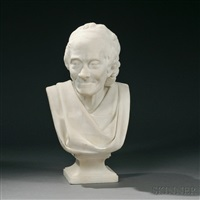 bust of voltaire by jean-antoine houdon